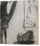 Lampshade Drama Wood Print