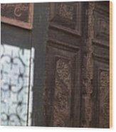 Lamu Door Wood Print
