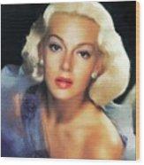 Lana Turner, Hollywood Legend Wood Print