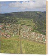 Lanai City Aerial Wood Print