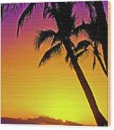 Lanai Sunset II Maui Hawaii Wood Print