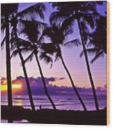 Lanai Sunset Wood Print