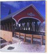 Lancaster Covered Bridge Wood Print