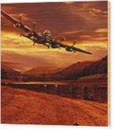 Lancaster Over Ouzelden Wood Print by Nigel Hatton