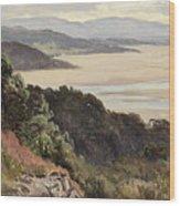 Lancaster Sands Wood Print