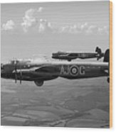 Lancasters Aj-g And Aj-n Carrying Upkeeps Black And White Versio Wood Print