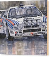 Lancia 037 Martini Rally 1983 Wood Print