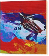Lancia Stratos Watercolor 2 Wood Print by Naxart Studio