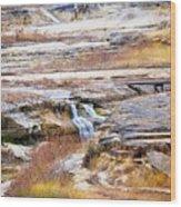 Land 034 Wood Print