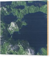 Land Of A Thousand Lakes Wood Print