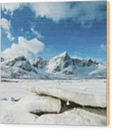 Land Of Ice And Snow Wood Print