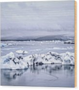 Land Of Ice Wood Print