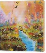 Land Of Oz Wood Print