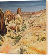 Land Of Sandstones Valley Of Fire Wood Print