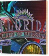 Land Of Sunshine Wood Print