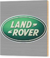 Land Rover Emblem Wood Print