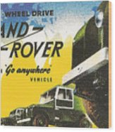 Land Rover Wood Print