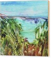 Land Sea And Sky Wood Print