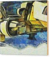 Landed Imperial Shuttle - Da Wood Print