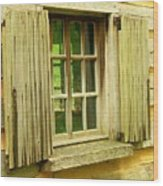 Landis Valley Window Wood Print