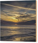 Lands End Sun Set  Wood Print