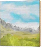 Landscape 040710 Wood Print