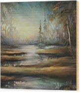 Landscape 10 Wood Print