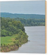 Landscape Along The Tennessee River At Shiloh National Military Park, Tennessee Wood Print