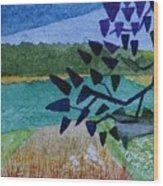 Landscape Angles Wood Print