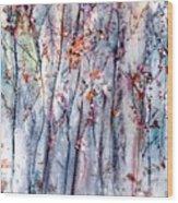 Landscape At Dusk Wood Print