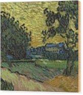 Landscape At Twilight Auvers Sur Oise June 1890 Vincent Van Gogh 1853  189 Wood Print