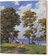 Landscape By The Shore Aka The Picnic Edward Henry Potthast Wood Print