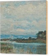 Landscape From The Surroundings Wood Print