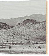 Landscape Galisteo Nm J10c Wood Print