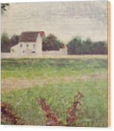 Landscape In The Ile De France Wood Print