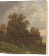 Landscape In The Loisach-valley Wood Print