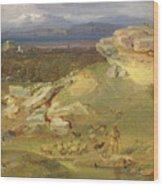 Landscape Near Corinth Wood Print
