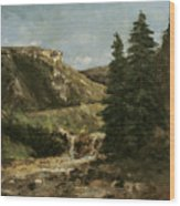 Landscape Near Ornans Wood Print