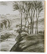 Landscape Near Osny  Wood Print
