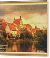 Landscape Scene - Germany. L A With Alt. Decorative Ornate Printed Frame. Wood Print