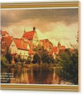Landscape Scene - Germany L A With Decorative Ornate Printed Frame. Wood Print