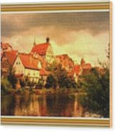 Landscape Scene - Germany. L B With Decorative Ornate Printed Frame. Wood Print
