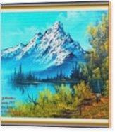 Landscape Scene Near Virginiahurst L A With Alt. Decorative Ornate Printed Frame. Wood Print