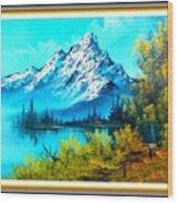 Landscape Scene Near Virginiahurst L B With Alt. Decorative Onate Printed Frame  Wood Print