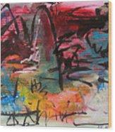 Landscape Sketch27 Wood Print
