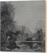 Landscape Value Study Wood Print