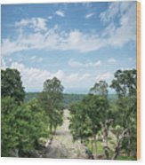 Landscape View From Preah Vihear Mountain In North Cambodia Wood Print