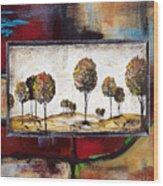 Landscape Vignettes-3 Wood Print