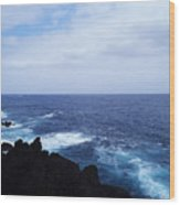 Wild Sea Wood Print
