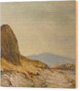 Landscape With A Hayrick Wood Print